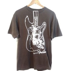 "Fender ""The Rock & Roll Lifestyle"" Brown Tee/ Med"